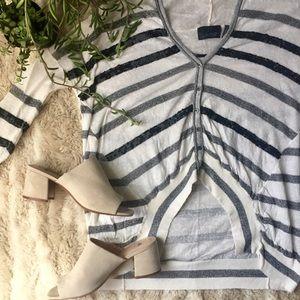 Anthropologie Line. Sequin Striped Cardigan